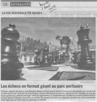 Festival d'échecs géants (3è édition) été 2010