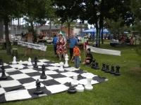 Service d'animation avec jeux d'échecs géants
