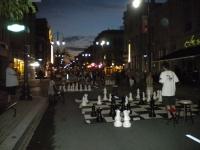 Jeux d'échecs géants sur la rue des Forges