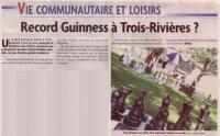Record Guinness à Trois-Rivières ?